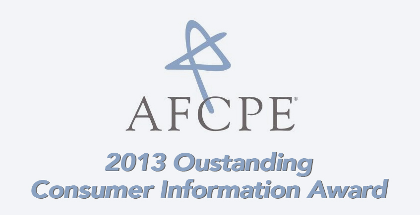iGrad Receives the Outstanding Consumer Information Award From AFCPE