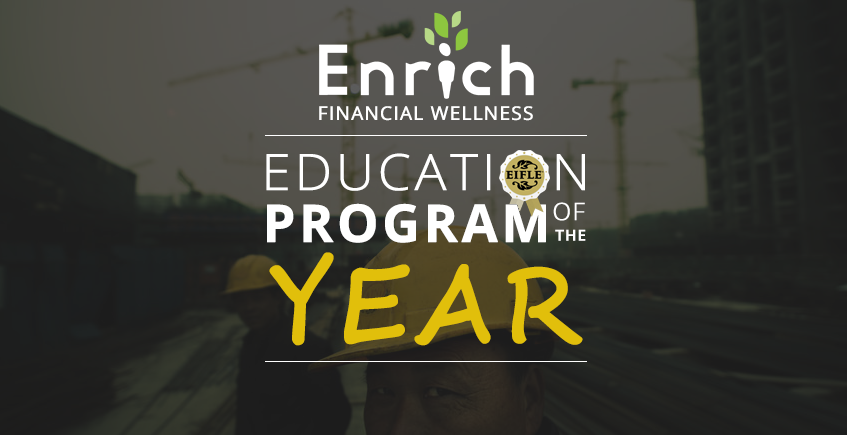 Enrich wins EEIFLE Award - Education Program of the Year