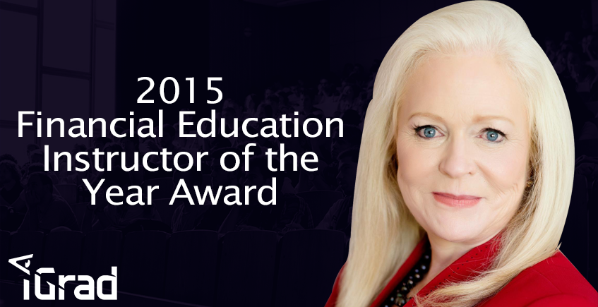 iGrad's Sharon Lechter Recipient of 2015 Financial Education Instructor of the Year Award