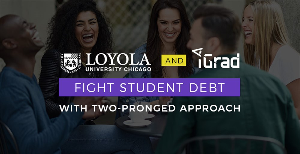 Laughing Loyola University students enjoying a financial education from iGrad