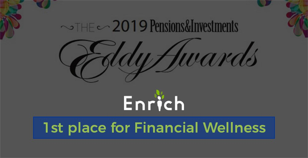 Financial Wellness Eddy Award for Enrich's work with Virginia Retirement System