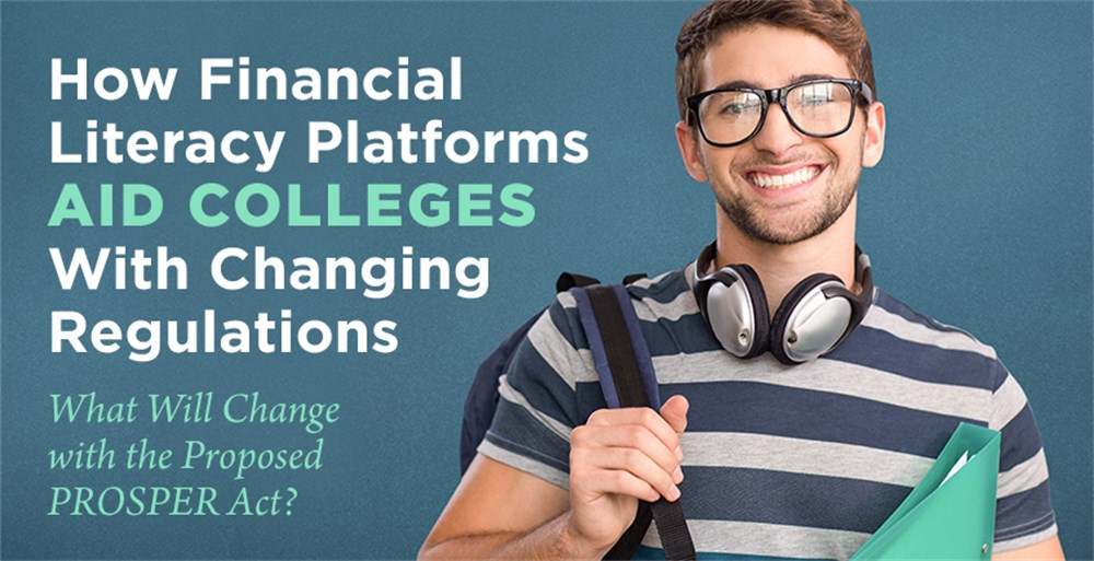 A college student looks to a financial literacy platform for a financial education as his college reacts to the PROSPER Act