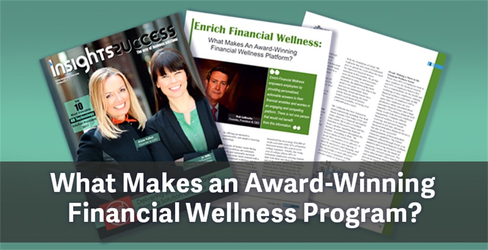 Magazine featuring Enrich Financial Wellness Program for employers