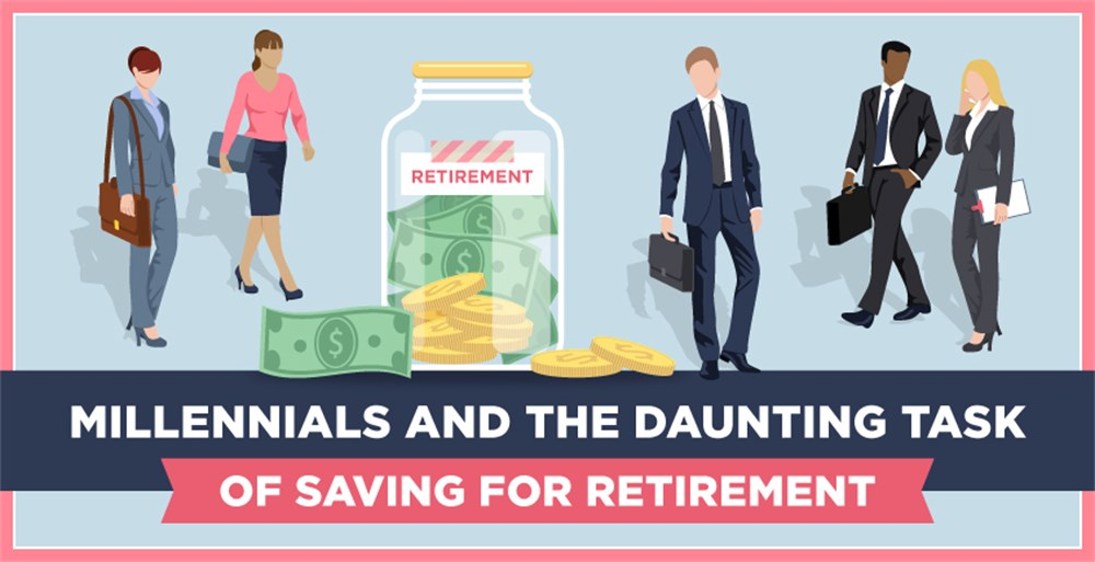 millennial workers struggling with financial wellness and retirement savings