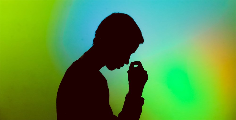silhouette image of man with financial stress