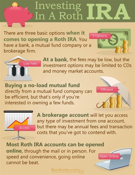Investing in a Roth IRA Infographic
