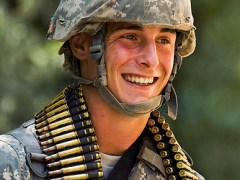 Young Soldier in the US Army With Military Deferment